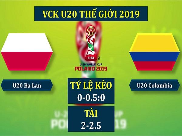 Soi kèo U20 Ba Lan vs U20 Colombia, 1h30 ngày 24/05