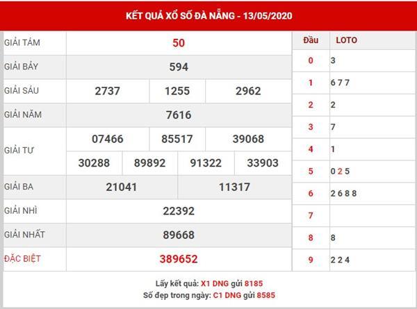 Soi cầu kết quả XS Đà Nẵng thứ 6 ngày 16-5-2020