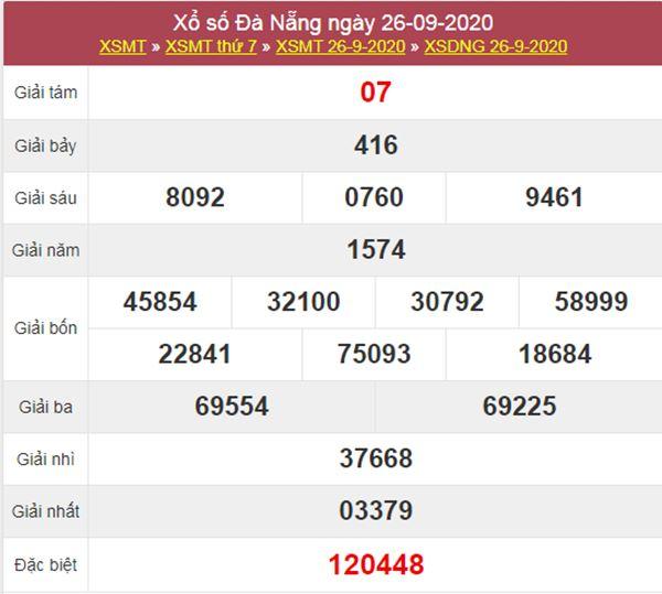 Soi cầu KQXS Đà Nẵng 30/9/2020 chốt XSDNG cực chuẩn