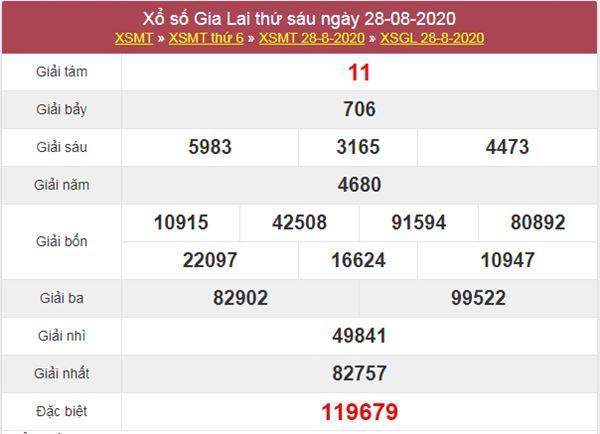 Soi cầu XSGL 4/9/2020 chốt lô VIP KQXS Gia Lai thứ 6