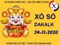 Soi cầu số đẹp XS Daklak thứ 3 ngày 24/11/2020