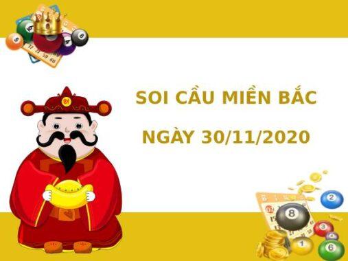 Soi cầu XSMB chính xác thứ 2 ngày 30/11/2020