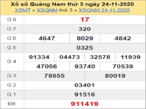 Soi cầu XSQNM 1/12/2020, chốt số Quảng Nam tỷ lệ trúng cao
