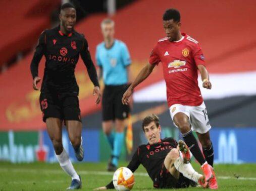 Bóng đá châu Âu trưa 26/2: Tân binh Amad Diallo lại gây ấn tượng