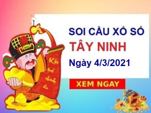 Soi cầu XSTN ngày 4/3/2021 – Soi cầu chốt số Tây Ninh thứ 5 hôm nay