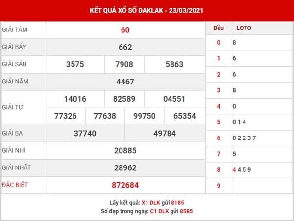 Soi cầu kết quả XSDLK thứ 3 ngày 30/3/2021