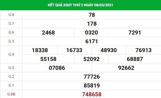 Soi cầu XS Đồng Tháp chính xác thứ 2 ngày 15/03/2021