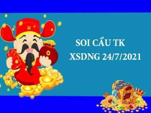 Soi cầu thống kê KQXSDNG 24/7/2021 thứ 7