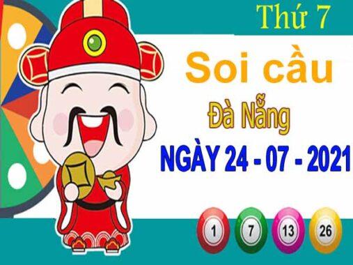 Soi cầu XSDNG ngày 24/7/2021 đài Đà Nẵng thứ 7 hôm nay chính xác nhất