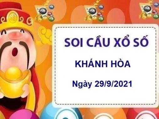 Soi cầu XSKH ngày 29/9/2021 chốt KQ Khánh Hòa thứ 4