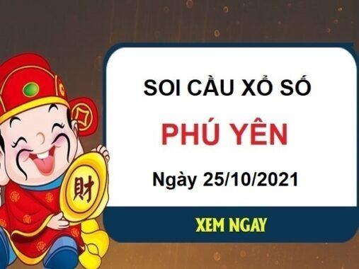 Soi cầu KQXSPY ngày 25/10/2021 chốt lô VIP đài Phú Yên hôm nay